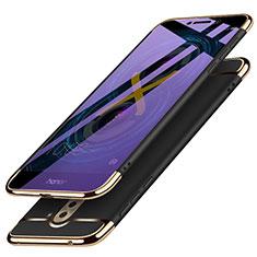 Huawei Honor 6X Pro用ケース 高級感 手触り良い メタル兼プラスチック バンパー M03 ファーウェイ ブラック