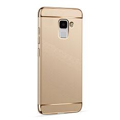 Huawei Honor 7用ケース 高級感 手触り良い アルミメタル 製の金属製 ファーウェイ ゴールド