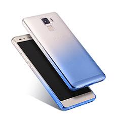 Huawei Honor 7用極薄ソフトケース グラデーション 勾配色 クリア透明 ファーウェイ ネイビー