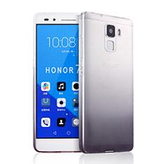 Huawei Honor 7用極薄ソフトケース グラデーション 勾配色 クリア透明 ファーウェイ グレー
