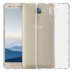 Huawei Honor 7用極薄ソフトケース シリコンケース 耐衝撃 全面保護 クリア透明 T02 ファーウェイ クリア