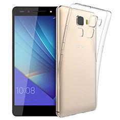 Huawei Honor 7用極薄ソフトケース シリコンケース 耐衝撃 全面保護 クリア透明 T03 ファーウェイ クリア