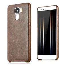 Huawei Honor 7 Dual SIM用ケース 高級感 手触り良いレザー柄 ファーウェイ ブラウン