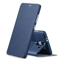 Huawei Honor 7 Dual SIM用手帳型 レザーケース スタンド L02 ファーウェイ ネイビー