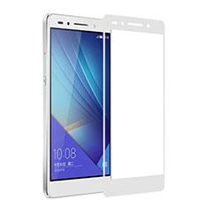 Huawei Honor 7 Dual SIM用強化ガラス フル液晶保護フィルム ファーウェイ ホワイト