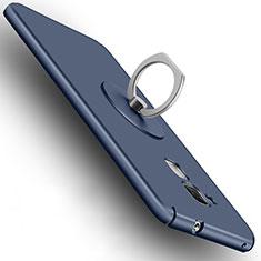 Huawei Honor 7 Lite用ハードケース プラスチック 質感もマット アンド指輪 ファーウェイ ネイビー