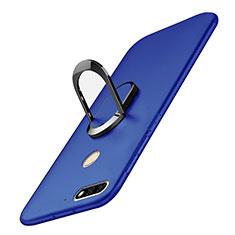 Huawei Honor 7C用ハードケース プラスチック 質感もマット アンド指輪 A01 ファーウェイ ネイビー
