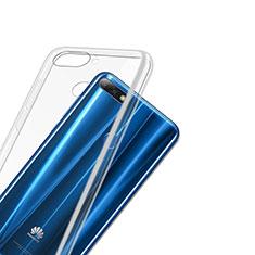 Huawei Honor 7C用極薄ソフトケース シリコンケース 耐衝撃 全面保護 クリア透明 T03 ファーウェイ クリア