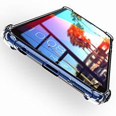 Huawei Honor 7C用極薄ソフトケース シリコンケース 耐衝撃 全面保護 クリア透明 T04 ファーウェイ クリア