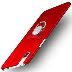 Huawei Honor 7i shot X用ハードケース プラスチック 質感もマット アンド指輪 ファーウェイ レッド