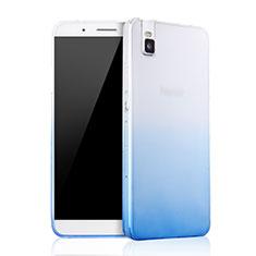 Huawei Honor 7i shot X用極薄ソフトケース グラデーション 勾配色 クリア透明 ファーウェイ ネイビー
