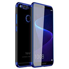 Huawei Honor 7X用極薄ソフトケース シリコンケース 耐衝撃 全面保護 クリア透明 H01 ファーウェイ ネイビー
