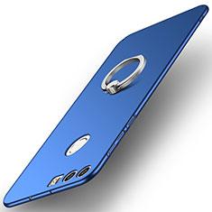 Huawei Honor 8用ハードケース プラスチック 質感もマット アンド指輪 A01 ファーウェイ ネイビー