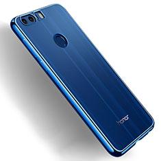 Huawei Honor 8用極薄ソフトケース シリコンケース 耐衝撃 全面保護 クリア透明 T03 ファーウェイ ネイビー