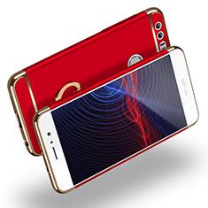 Huawei Honor 8用ケース 高級感 手触り良い メタル兼プラスチック バンパー アンド指輪 ファーウェイ レッド