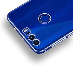 Huawei Honor 8用極薄ソフトケース シリコンケース 耐衝撃 全面保護 クリア透明 R01 ファーウェイ クリア