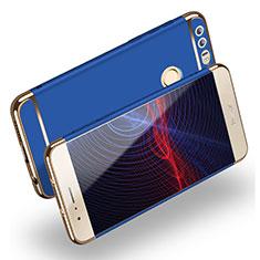 Huawei Honor 8用ケース 高級感 手触り良い メタル兼プラスチック バンパー M01 ファーウェイ ネイビー