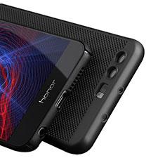 Huawei Honor 8用ハードケース プラスチック メッシュ デザイン ファーウェイ ブラック