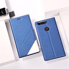 Huawei Honor 8用手帳型 レザーケース スタンド ファーウェイ ネイビー