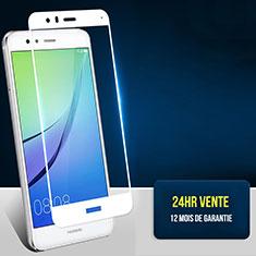 Huawei Honor 8 Lite用強化ガラス フル液晶保護フィルム F04 ファーウェイ ホワイト