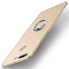 Huawei Honor 8 Pro用ハードケース プラスチック 質感もマット アンド指輪 A01 ファーウェイ ゴールド