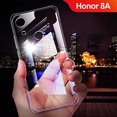 Huawei Honor 8A用極薄ソフトケース シリコンケース 耐衝撃 全面保護 クリア透明 T02 ファーウェイ クリア