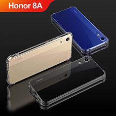 Huawei Honor 8A用極薄ソフトケース シリコンケース 耐衝撃 全面保護 クリア透明 T04 ファーウェイ クリア