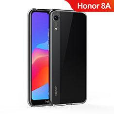 Huawei Honor 8A用極薄ソフトケース シリコンケース 耐衝撃 全面保護 クリア透明 T05 ファーウェイ クリア