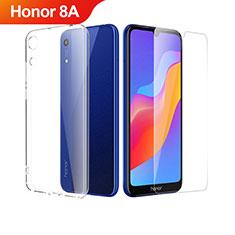 Huawei Honor 8A用極薄ソフトケース シリコンケース 耐衝撃 全面保護 クリア透明 アンド液晶保護フィルム ファーウェイ クリア