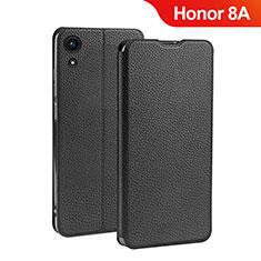Huawei Honor 8A用手帳型 レザーケース スタンド L01 ファーウェイ ブラック