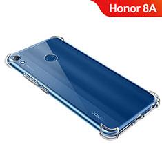 Huawei Honor 8A用極薄ソフトケース シリコンケース 耐衝撃 全面保護 クリア透明 T09 ファーウェイ クリア