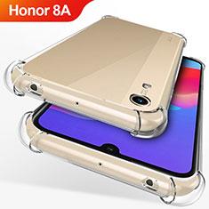 Huawei Honor 8A用極薄ソフトケース シリコンケース 耐衝撃 全面保護 クリア透明 T12 ファーウェイ クリア