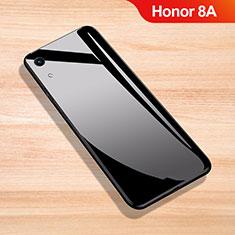 Huawei Honor 8A用ハイブリットバンパーケース プラスチック 鏡面 カバー ファーウェイ ブラック