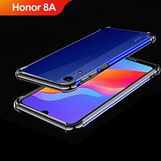 Huawei Honor 8A用極薄ソフトケース シリコンケース 耐衝撃 全面保護 クリア透明 H01 ファーウェイ ブラック