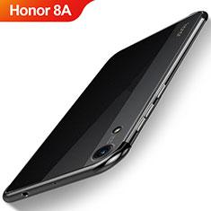 Huawei Honor 8A用極薄ソフトケース シリコンケース 耐衝撃 全面保護 クリア透明 H02 ファーウェイ ブラック