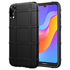 Huawei Honor 8A用360度 フルカバー極薄ソフトケース シリコンケース 耐衝撃 全面保護 バンパー S01 ファーウェイ ブラック