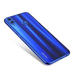 Huawei Honor 8X用極薄ソフトケース シリコンケース 耐衝撃 全面保護 クリア透明 H01 ファーウェイ ネイビー