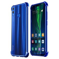 Huawei Honor 8X用極薄ソフトケース シリコンケース 耐衝撃 全面保護 クリア透明 H02 ファーウェイ ネイビー