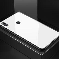Huawei Honor 8X用ハイブリットバンパーケース プラスチック 鏡面 カバー M02 ファーウェイ ホワイト