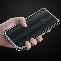 Huawei Honor 8X Max用極薄ソフトケース シリコンケース 耐衝撃 全面保護 クリア透明 カバー ファーウェイ クリア
