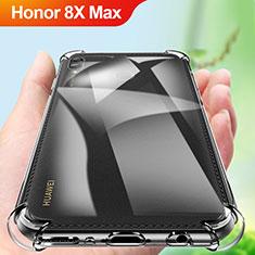 Huawei Honor 8X Max用極薄ソフトケース シリコンケース 耐衝撃 全面保護 クリア透明 カバー A01 ファーウェイ クリア