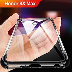 Huawei Honor 8X Max用極薄ソフトケース シリコンケース 耐衝撃 全面保護 クリア透明 A02 ファーウェイ ブラック