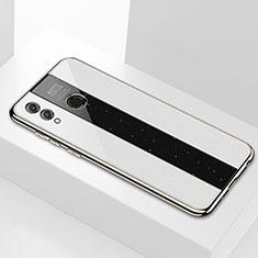 Huawei Honor 8X Max用ハイブリットバンパーケース プラスチック 鏡面 カバー M01 ファーウェイ ホワイト
