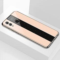 Huawei Honor 8X Max用ハイブリットバンパーケース プラスチック 鏡面 カバー M01 ファーウェイ ゴールド