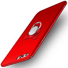 Huawei Honor 9用ハードケース プラスチック 質感もマット アンド指輪 A02 ファーウェイ レッド