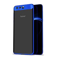 Huawei Honor 9用極薄ソフトケース シリコンケース 耐衝撃 全面保護 クリア透明 T07 ファーウェイ ネイビー