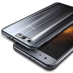 Huawei Honor 9用極薄ソフトケース シリコンケース 耐衝撃 全面保護 クリア透明 T09 ファーウェイ シルバー