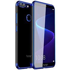 Huawei Honor 9 Lite用極薄ソフトケース シリコンケース 耐衝撃 全面保護 クリア透明 H16 ファーウェイ ネイビー