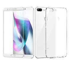 Huawei Honor 9 Lite用極薄ソフトケース シリコンケース 耐衝撃 全面保護 クリア透明 アンド液晶保護フィルム ファーウェイ ホワイト