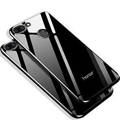 Huawei Honor 9 Lite用シリコンケース ソフトタッチラバー 鏡面 Q01 ファーウェイ ブラック